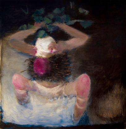 Pietro Geranzani, Atta-llah martire e rivoluzionario, 2002, olio e chiodi su tela, cm 180×170