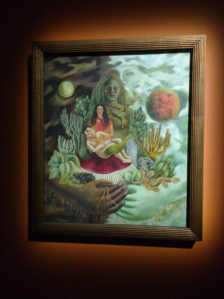 Kahlo Frida, L'amoroso abbraccio dell'Universo, la Terra (Messico), Diego, io e il Signor Xólotl, 1949, Olio su masonite