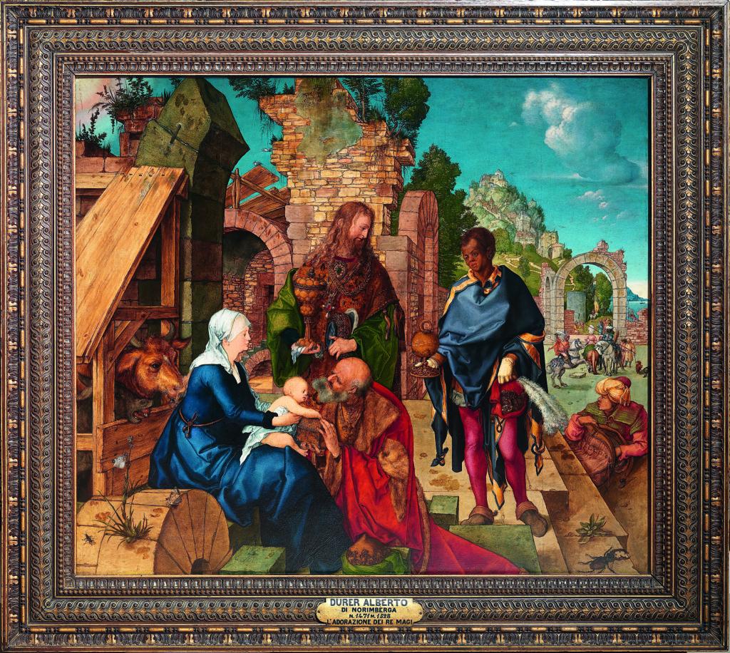 Albrecht Dürer, Adorazione dei Magi, 1504, olio su tavola, Firenze Galleria degli Uffizi