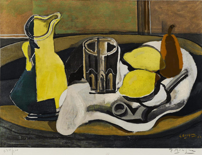 Georges Braque_Nature morte aux citrons_1960_incisione_cm 47x57