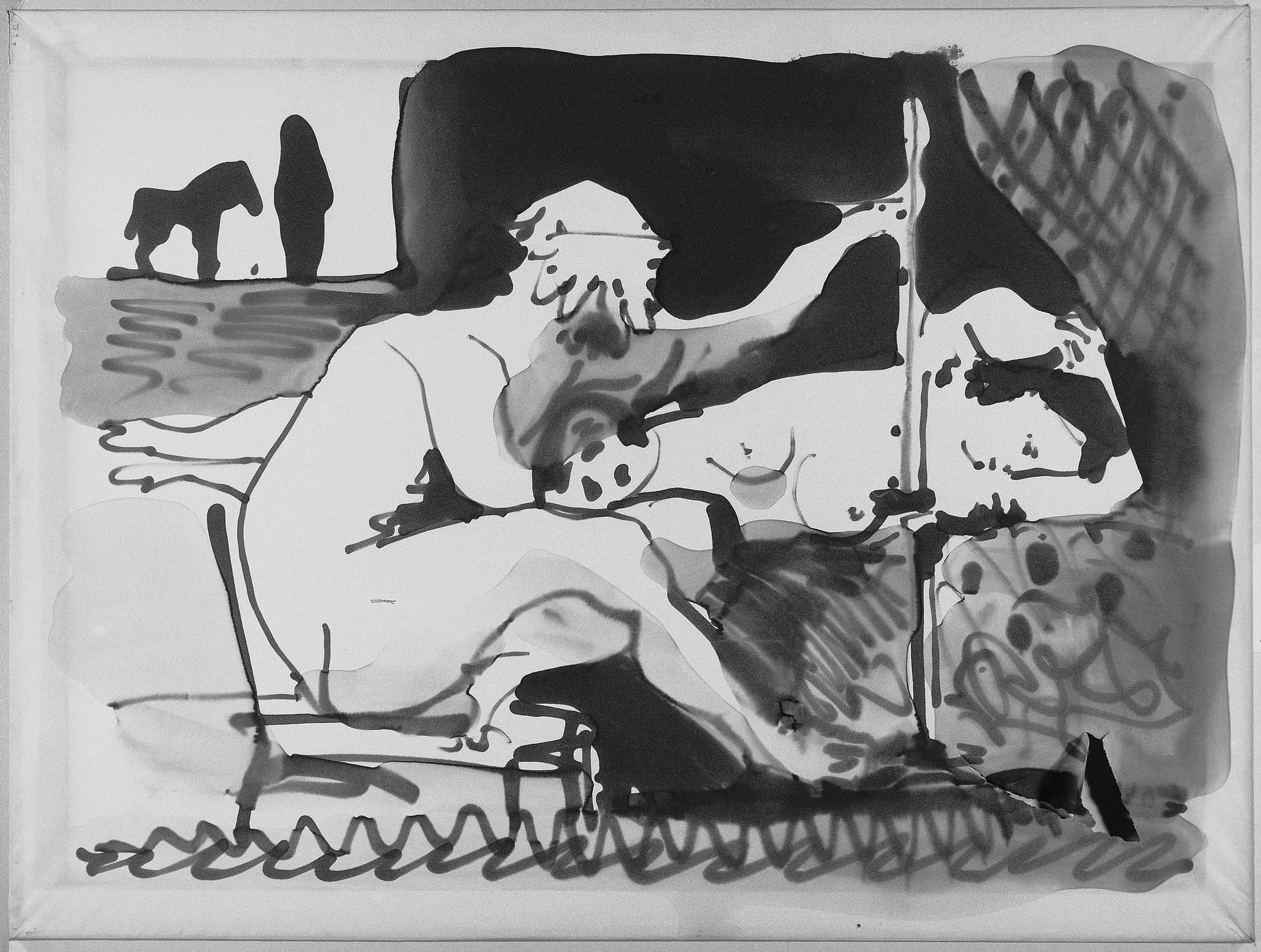 Le peintre et son modèle Picasso Pablo (dit), Ruiz Picasso Pablo (1881-1973). Paris, musÈe national Picasso - Paris. MP1983-44. (ph Com. Milano)